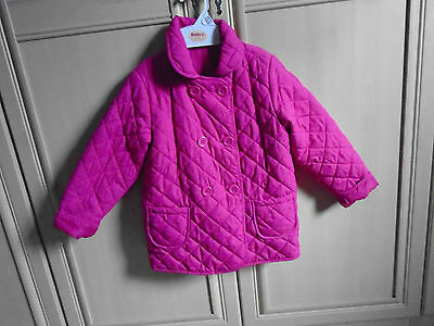 girls pink padded coat age 5 years by st bernard from dunnes