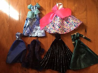 Lot Barbie Doll Gown Party Ball Dresses Clothes