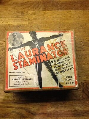 Vintage Exercise Chest Expanders, 1936 Olympics. Harold Laurance Boxed
