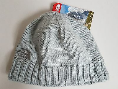 The North Face Tenth Peak Beanie Hat, High Rise Grey, One Size Adult, NWT