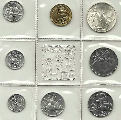 San Marino Official Set 8 Pcs 1975 With Silver