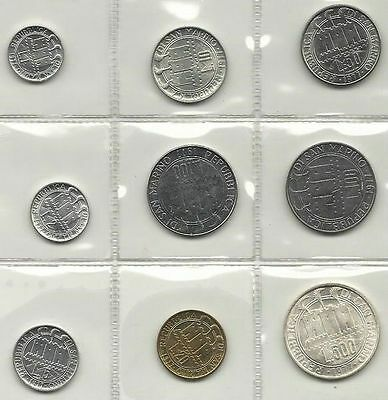 San Marino Official Set 9 Pcs 1977 With Silver