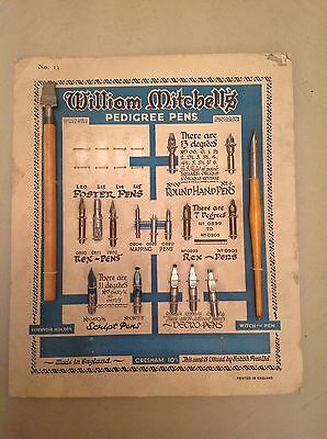 Rare/ Vintage William Mitchell's Calligraphy Pen Set And Various Nibs.