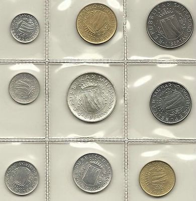 San Marino Official Set 9 Pcs 1981 With Silver