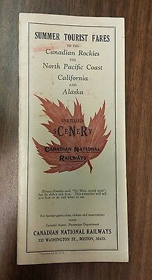 Early CNR Brochure Canadian Rockies Unrivaled Scenery Canadian National Railways