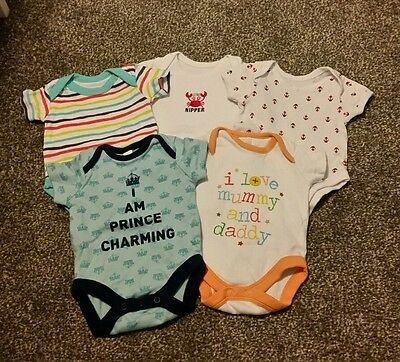 5 boys newborn vests