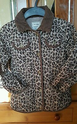 Next leopard print lightly padded coat age 7 -8 yrs