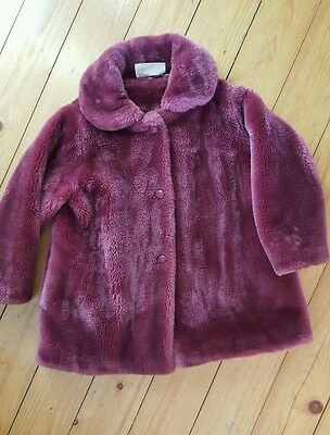 Beautiful Winter pink faux fur coat age 5  yrs