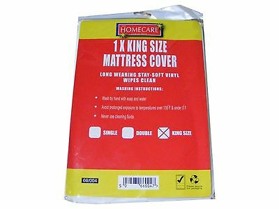 New King Size Bed Wetting Vinyl Plastic Fitted Mattress Cover Sheet Protector