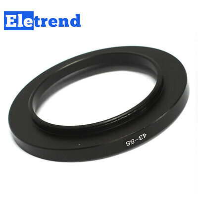 43mm to 55mm 43-55mm Male-Famale Step-Up Lens Filter Hood Cover Ring Adapter