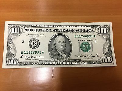 1981 $100 One Hundred Dollar Bill NEW YORK federal reserve note CIRCULATED