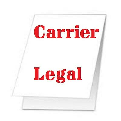 2 Carrier Sleeve's For Laminating Laminator Pouches LEGAL SIZE STITCHED & COATED