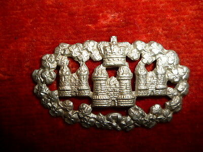 The Queen's Own Royal Dublin City Militia QVC Collar Badge - Scarce Irish Badge