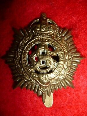 The Army Service Corps Voided KC Cap Badge WW1
