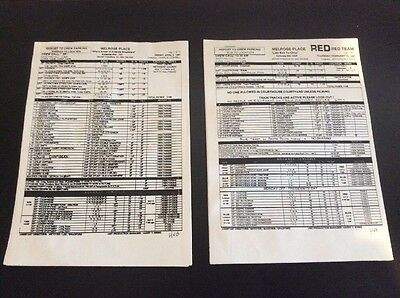 Melrose Place TV 2 Call Sheets And Partial Scripts