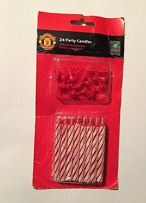 Manchester United Official Party candles 24pk
