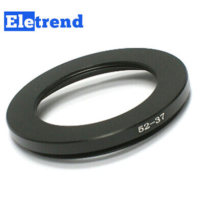 52mm to 37mm 52 to 37 Metal Male-Famale Step Down Lens Filter Ring Adapter Black
