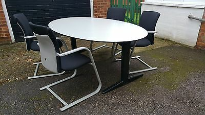 Office Meeting/Conference Table and 4 Chairs - Set