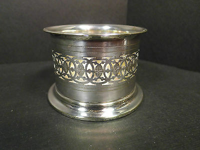 Vintage Henniger Silverplated Wine Bottle Coaster - German