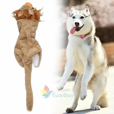 Cute Pet Puppy Chew Squeaker Squeaky Plush Sound Lion Soft For Dog Toys #A