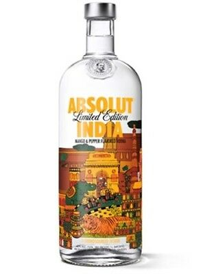 Absolut Vodka India Limited Edition Bottle 1 Litre Rare Collectable Empty Britto