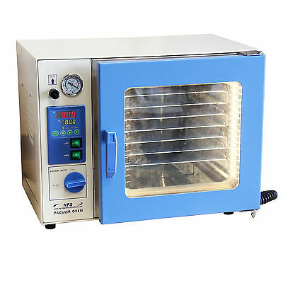 """HFS 0.9 Cu Ft. Vacuum Oven , 7 Shelves, 12x12x11"""" Stainless Chamber NEW"""