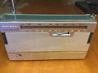 national transistor 9 (2 band) radio