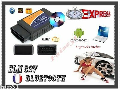 OBD2 Bluetooth Interface Diagnostique ELM 327 OBDII Diagnostic Voiture Android