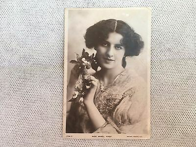 Vintage Postcard - Lady - Miss Mabel Hirst - Not Used - Possibly Made England