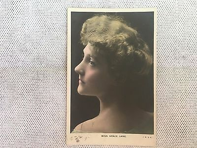 Vintage Postcard - Lady - Miss Grace Lane - Used - Possibly Made England