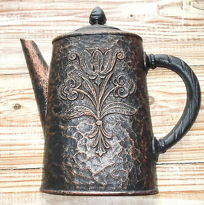 1972 Homco Black & Copper Coffee Pot Molded Plastic Wall Hangings #7261
