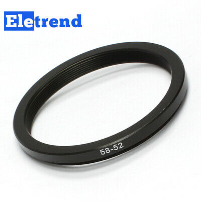 58mm-52mm 58mm to 52 Metal Step Down Lens Filter Ring Adapter Black