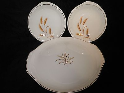 Vintage Edwin Knowles & Nobility Serving Platters Wheat Plates Country Wedding