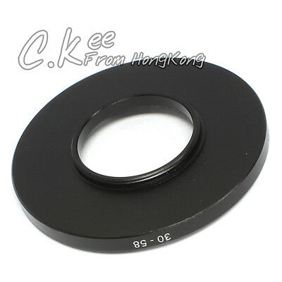 30mm to 58mm 30mm-58mm Male-Famale Step-Up Lens Filter Hood Cover Ring Adapter