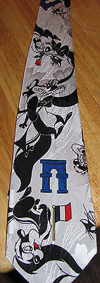 Looney Tunes Pepe Le Pew Mens Tie Warner Bros Cartoon Studio 890 Nice Condition