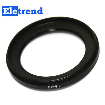 58mm to 43mm 58-43mm Male-Famale Step-down Lens Filter Hood Cover Ring Adapter