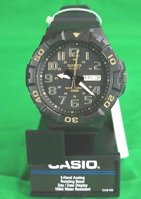 Casio Men's 'Diver Style' Quartz Resin Casual Watch, Black