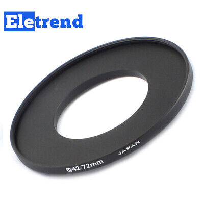 42mm to 72mm 42mm-72mm Male-Famale Step-Up Lens Filter Hood Cover Ring Adapter