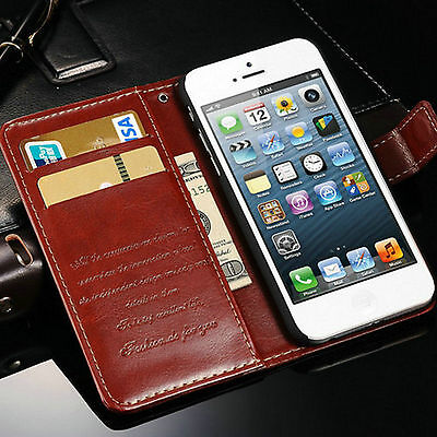 Classic Leather Stand Flip Front Back Cover Case Wallet Card for IPHONE 6 / 6S
