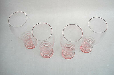 Elegant Pink Riedel O Wedding Champagne Toasting Glass Set