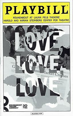 Playbill - Love, Love, Love - December 2016 - Richard Armitage, Zoe Kazan