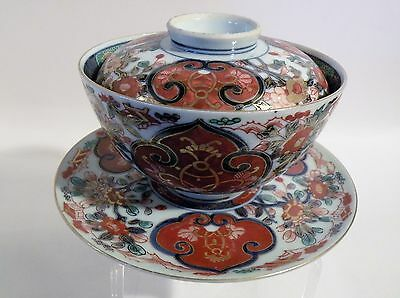 Tsf12 Imari Porcelain Chenghua Mark Rice Bowl, Underplate And Cover, Asian