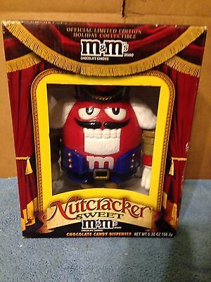 M&M's Limited Edition Nutcracker Sweet Red M&M Christmas Candy Dispenser - RARE!