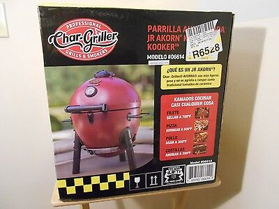 New Professional Char-Griller Akorn Jr. Kamado Kooker Smoker Grill Red 06614 Usa