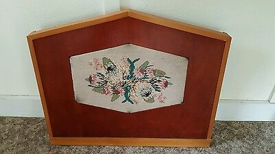 Antique Vintage Tapestry Fire Screen