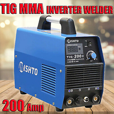 2 in 1 NEW MISHTO TIG MMA 200A Portable Inverter Welder TIG And Stick Welding
