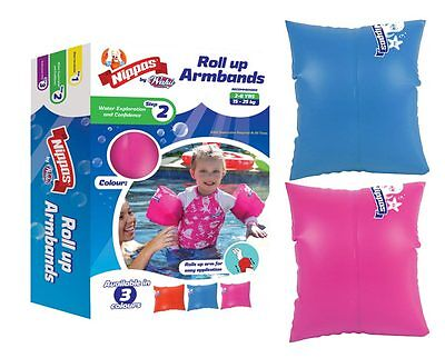 Wahu Nippas Roll Up Armbands ALL COLOURS 2-6yrs Floaties Pool Arm Band
