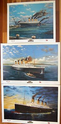 Rare 3 Different Titanic Limited Edition Prints Signed  Artist Randall Wilson