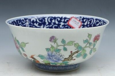 Exquisite Chinese porcelain handmade Flowers and birds bowl