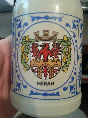 Merano (Meran) 0.25 L Beer Mug Collector Item From Italy Coat Of Arms